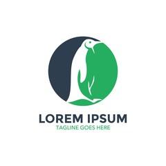 unique penguin logo. vector illustration