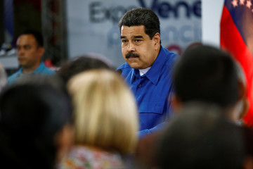 Maduro speaks during a news conference in Caracas