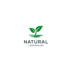 Natural logo template vector illustration