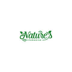 Natural logo template vector illustration