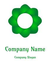Geometric company logo, Circle  Deep Emeral