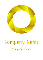 Geometric company logo, Circle  Sand of gold
