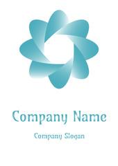 Geometric company logo, Octagon  Bluesky