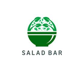 Organic salad logo template vector illustration