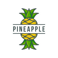 Pineapple logo template  Vector illustration