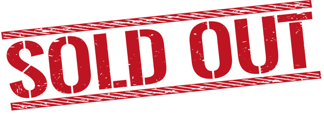red grungy rubber stamp illustration sold out