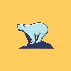 polar bear logo template vector illustration