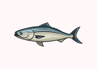 Salmon fish icon symbol vector illustration