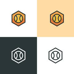 Tennis ball icon, logo concept - Vector illustration - vector icon logo template