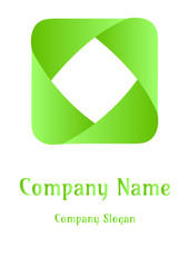 Geometric company logo, Squear Green of earth
