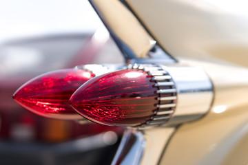 close up parts car retro vintage