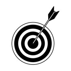 Target dartboard symbol vector illustration graphic design