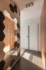 Home corridor with octagonal mirror