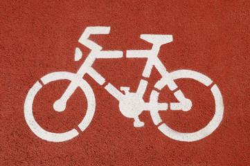 Cycle Lane Symbol, Close Up.