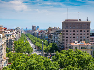 Views of the Passeig de Gracia street