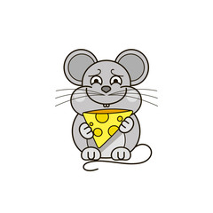 Funny and cute mouse