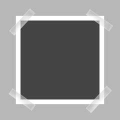 Vector image of a square frame for photos. Icons of an empty realistic photo frame