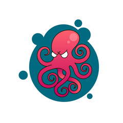 Octopus icon illustration