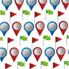 navigation gps location flag pin map wallpaper vector illustration