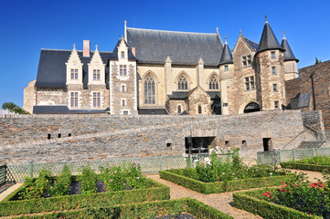 The 15th century chapel Chateau d'Angers. Is a castle in the city of Angers in the Loire Valley in the departement of Maine et Loire in France.