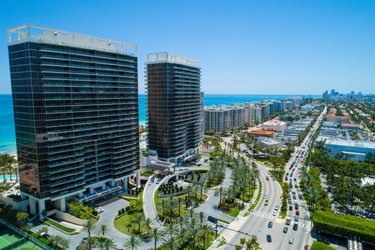 Aerial image of the St Regis and Bal Harbour shopping mall