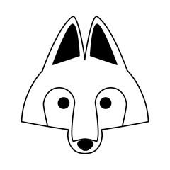 Wolf head wild animal vector illustration graphic design
