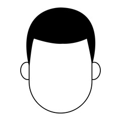 Man faceless cartoon vector illustration graphic design