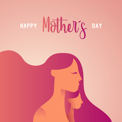 Happy mother day child love greeting card