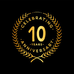 10 years design template. 10th vector and illustration.