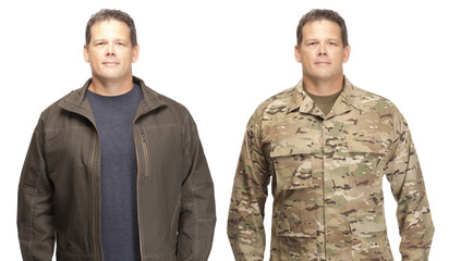 Transition from military to civilian life.