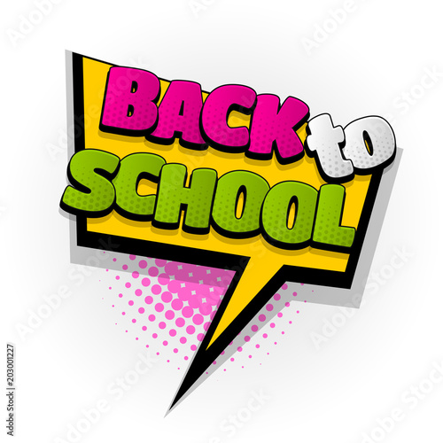 back to school hand drawn pictures effects template comics speech