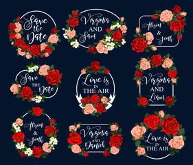 Flower frame for wedding greeting card design