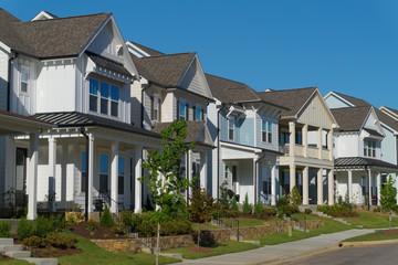 Street of residential suburban homes