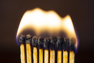 Background matchstick Macro fire burning