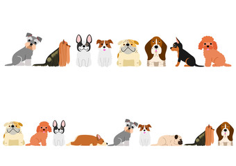 various dogs border set