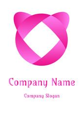 Geometric company logo, Circle lady pinky
