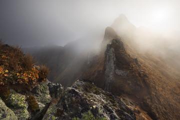 View of Puy de Sancy during Autumn. Location : Auvergne, France