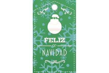 Feliz navidad banner against snowflake wallpaper pattern