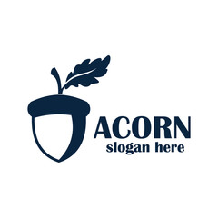 acorn logo design vector