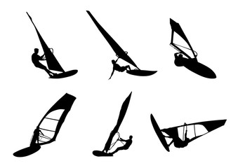 Windsurfing silhouette