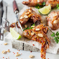 Sticky Grilled Chicken Wings