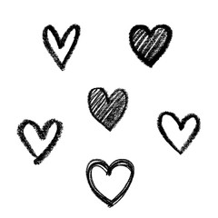 doodle abstract hand drawn pattern heart shaped