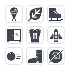 Premium fill icons set on white background . Such as ice, sport, natural, technology, white, skating, fashion, cold, picture, leaf, sign, spaceship, camera, interior, environment, plant, cabinet, foot