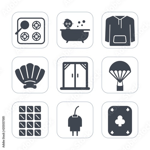 eaee13d7c Premium fill icons set on white background . Such as sweet