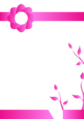 Geometric background, Vertival A4 paper, Introduction page, Romantic Pink