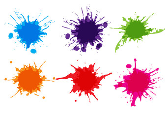 Photo sur Aluminium Forme vector colorful paint splatter.Paint splashe set.Vector illustration design.