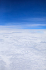 view sky and clouds from an airplane