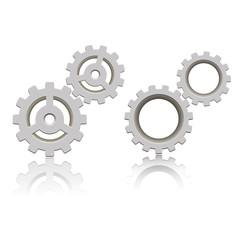 Mechanical gear icon. Vector illustration