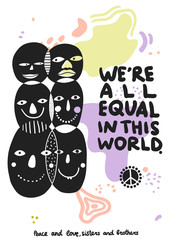 International Friendship Symbols Poster
