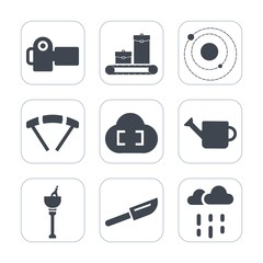 Premium fill icons set on white background . Such as technology, photo, wet, camera, can, extreme, alcohol, bag, picture, plant, travel, system, rainy, drink, gardening, equipment, suitcase, galaxy